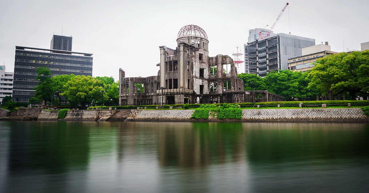 58187448 - long exposure on the atomic bomb dome in hiroshima japan